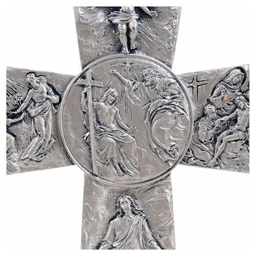 Cross with Deposition Resurrection Ascension symbols 4