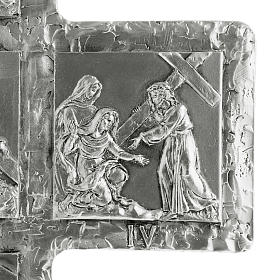 Crucifix, silver table cross with Way of the Cross s7