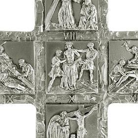 Cruz de mesa plateada vía Crucis s2