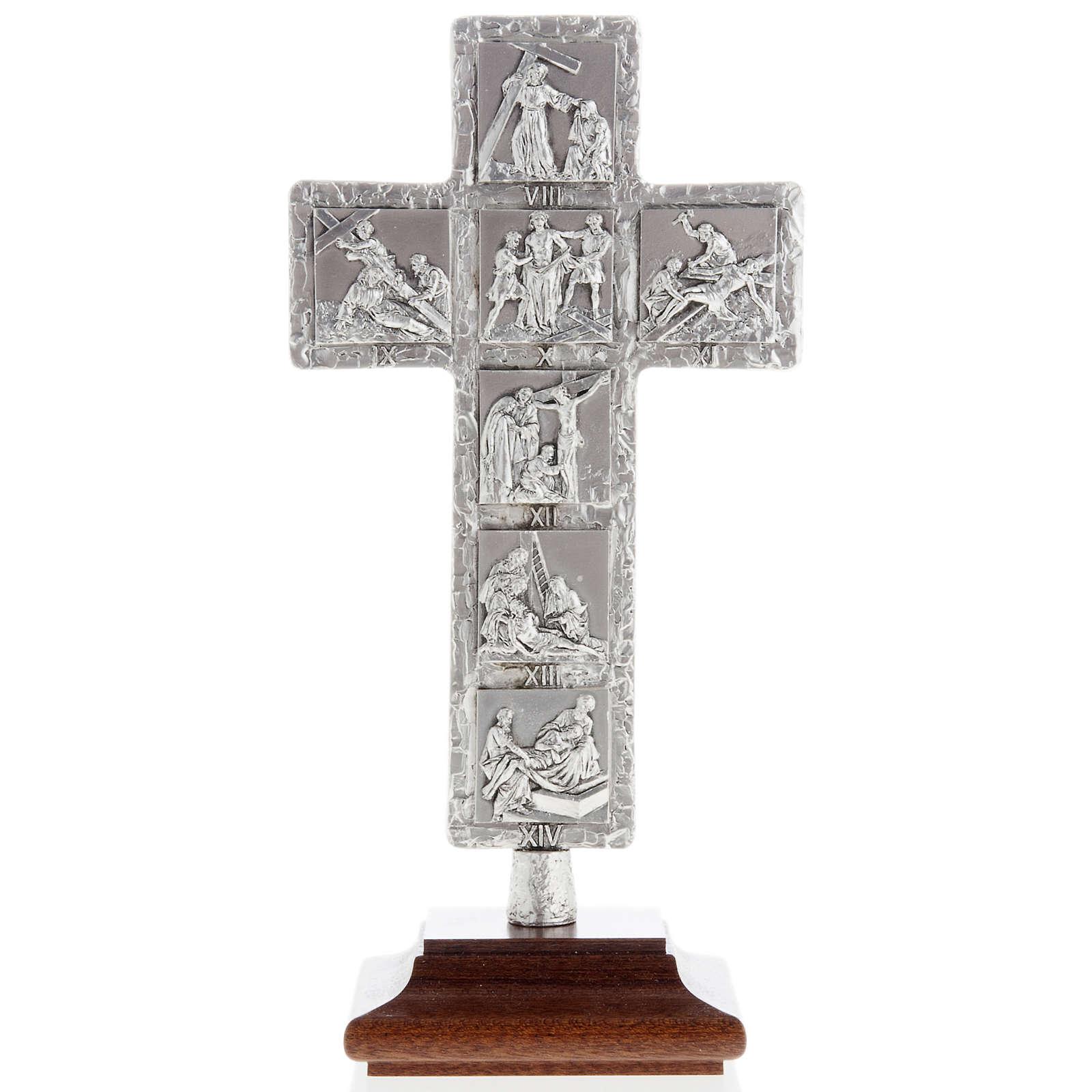 Croce argento da tavolo Via Crucis 4
