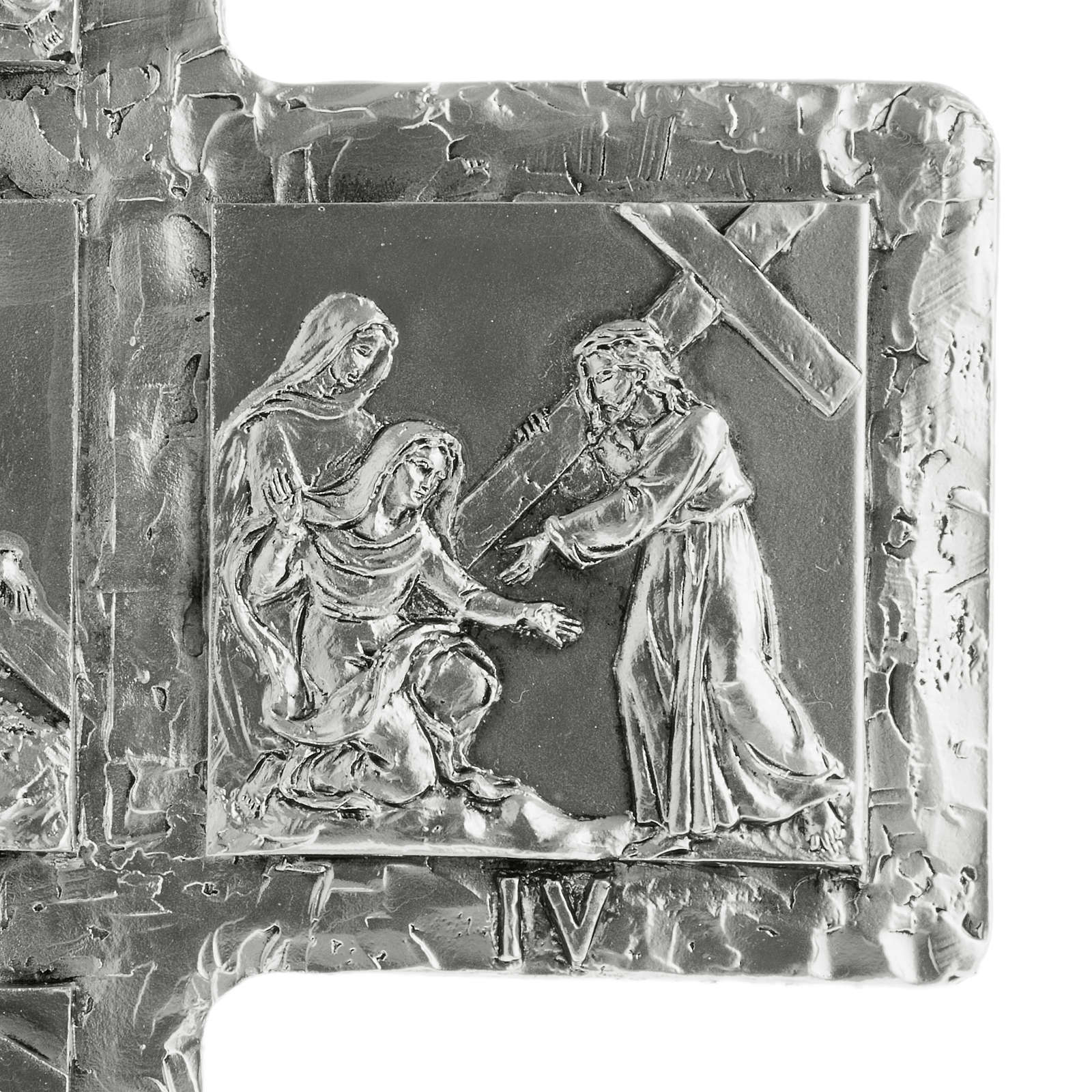 Crucifix, silver table cross with Way of the Cross 4