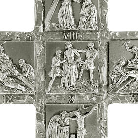 Crucifix, silver table cross with Way of the Cross s2