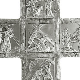 Crucifix, silver table cross with Way of the Cross s4