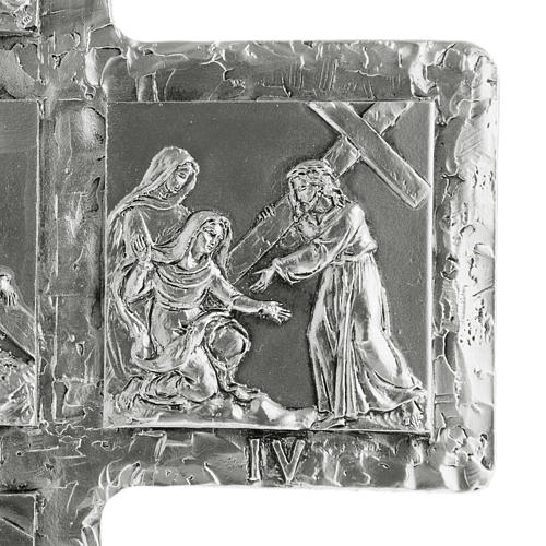 Crucifix, silver table cross with Way of the Cross 7