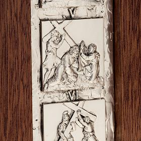 Diptych Way of the Cross silver, 14 stations s3