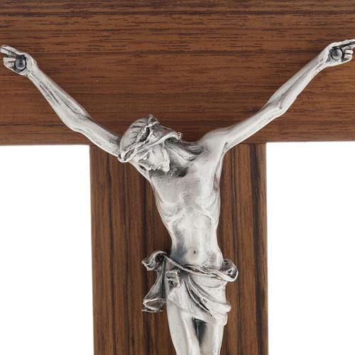 Crucifijo altar de mesa madera de nogal 2