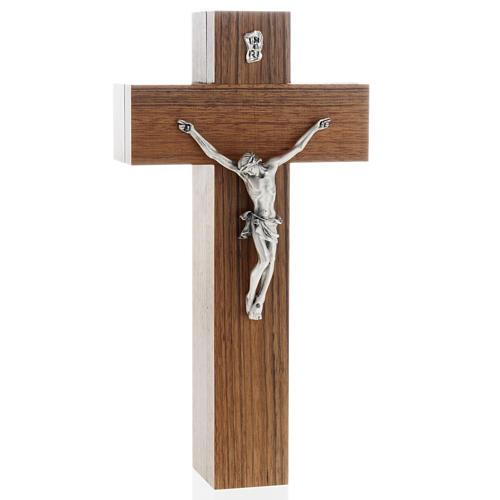 Crocefisso altarino da tavolo legno di noce 1