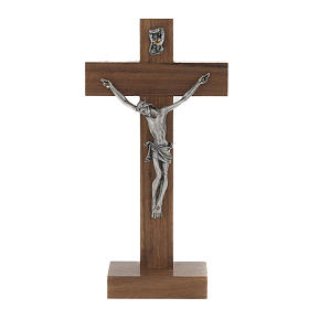 Crucifijo de mesa en madera de caoba s1