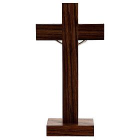 Crucifijo de mesa en madera de caoba s4