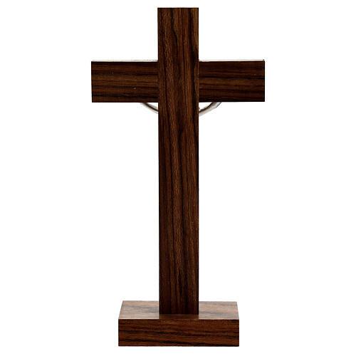 Croix de table en bois de noix décor simili nacre 4