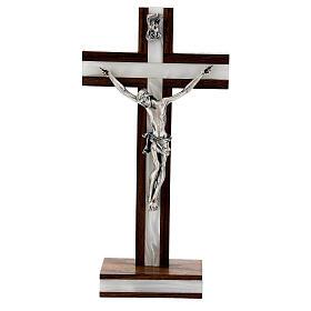 Krucyfiks stojący z drewna mahoniowego s1