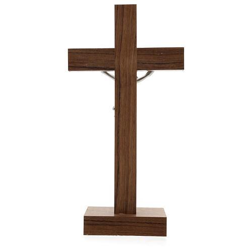 Crucifix de table en bois, métal, argent, alluminium 4