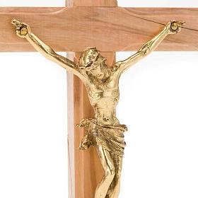 Crocifisso da tavolo dorato legno olivo e metallo dorato s3