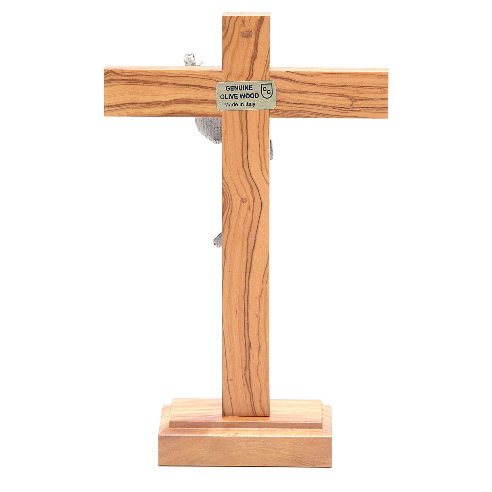 Crucifix de table Christ ressuscité, en métal et b 4