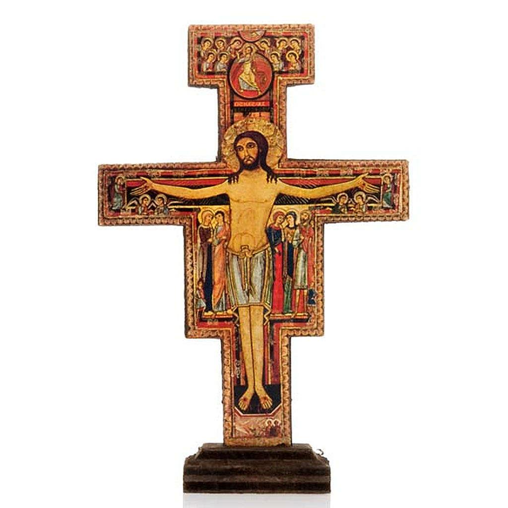 Crucifix de St Damien bois avec base 4