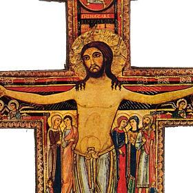 Crocifisso San Damiano legno con base s2