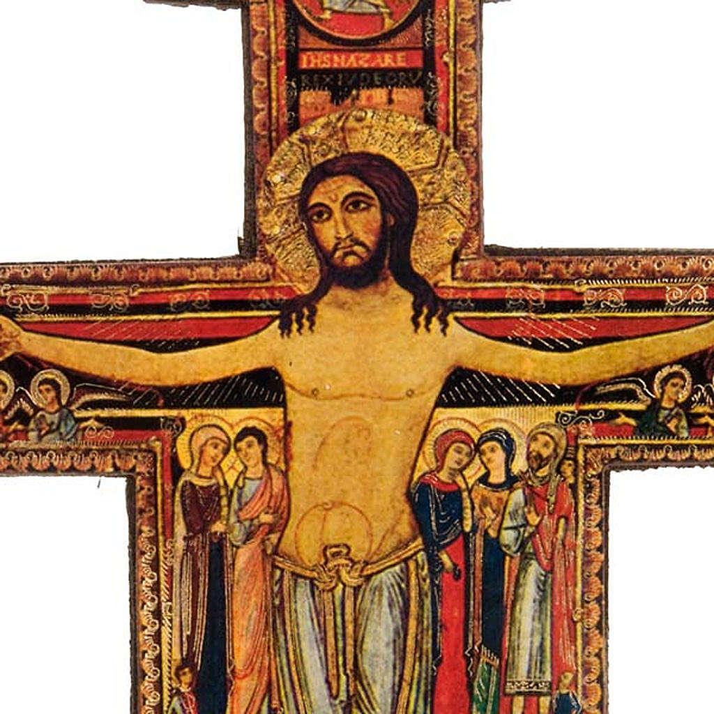 Krucyfiks Święty Damian z podstawą drewno 4