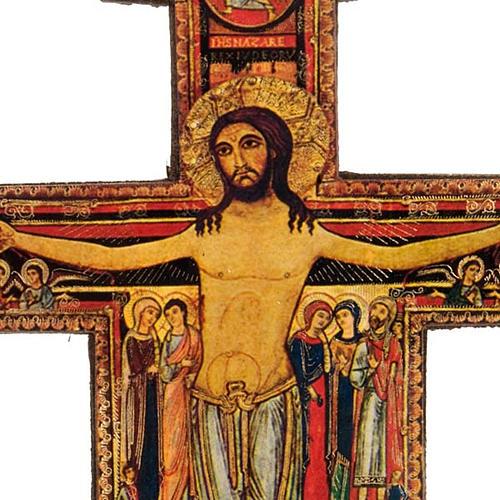 Krucyfiks Święty Damian z podstawą drewno 2
