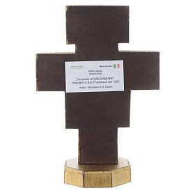 Crucifixo de mesa São Damião borda dourada s4