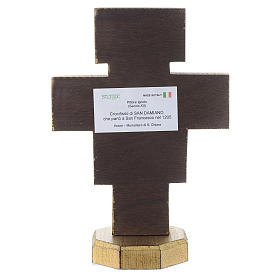 Crucifix of San Damiano wood with golden edge s4