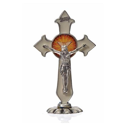Croix Saint Esprit pointes à poser 7x4,5 cm zamac émail blanc 3