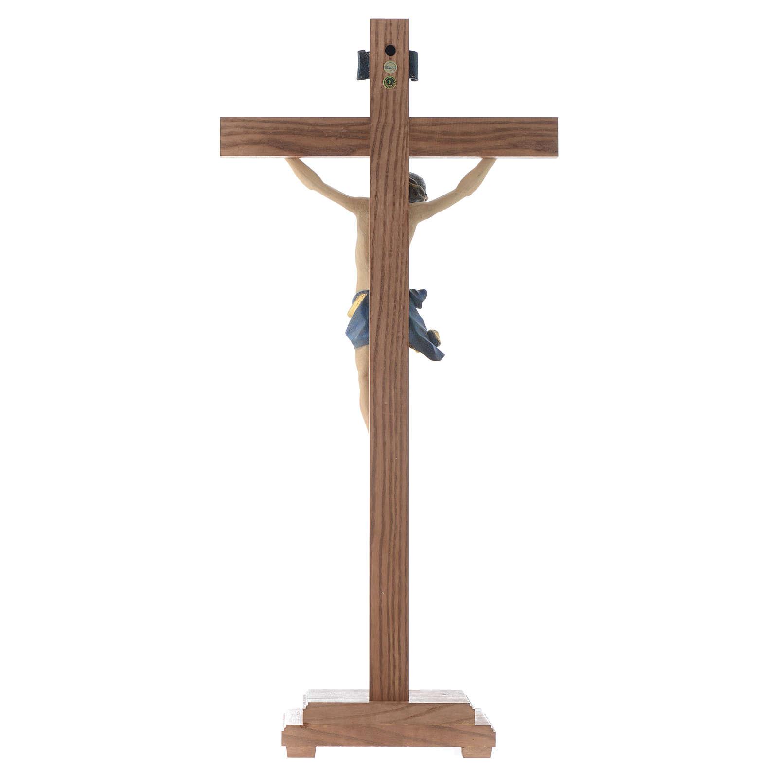 Croce da tavolo mod. Corpus legno Valgardena Antico Gold 4