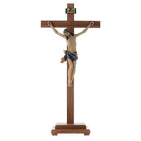 Croce da tavolo mod. Corpus legno Valgardena Antico Gold s1