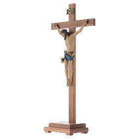 Croce da tavolo mod. Corpus legno Valgardena Antico Gold s2