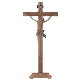 Croce da tavolo mod. Corpus legno Valgardena Antico Gold s4