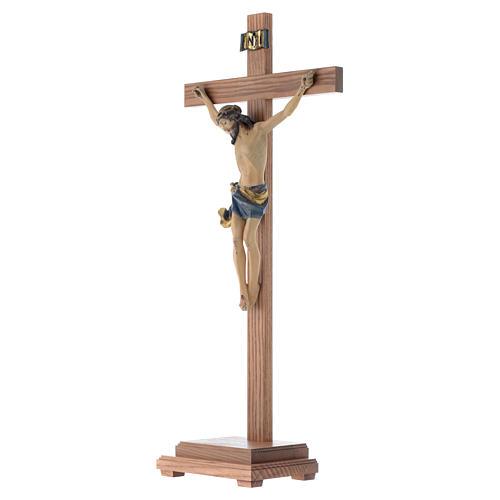 Croce da tavolo mod. Corpus legno Valgardena Antico Gold 2