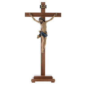Standing crucifixes: Antique gold table crucifix, Corpus model in antique gold Valgar