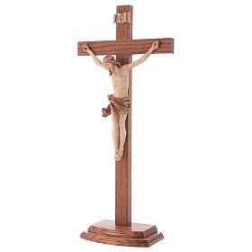 Cruz de mesa modelo Corpus madera Valgardena varias patinaduras s3