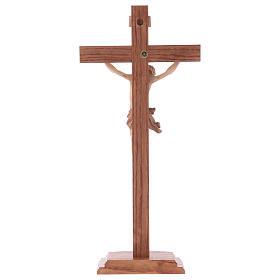 Cruz de mesa modelo Corpus madera Valgardena varias patinaduras s5
