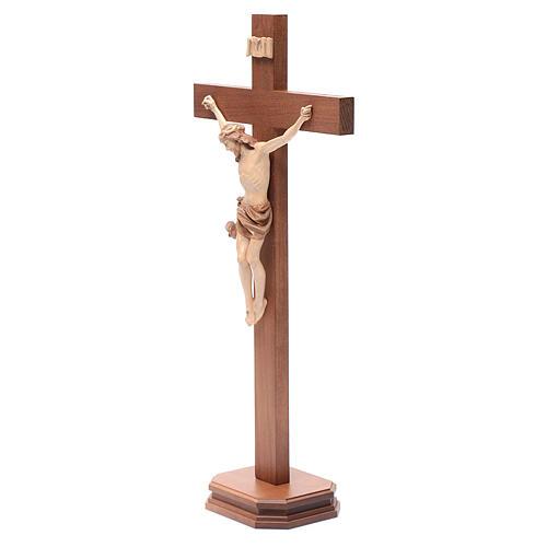 Cruz de mesa modelo Corpus madera Valgardena varias patinaduras 2