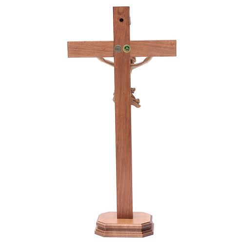 Cruz de mesa modelo Corpus madera Valgardena varias patinaduras 4