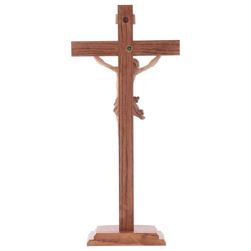 Cruz de mesa modelo Corpus madera Valgardena varias patinaduras 5