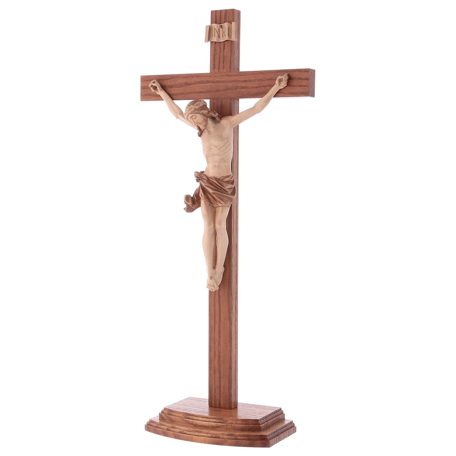 Crucifix à poser bois patiné multinuances mod. Corpus 4