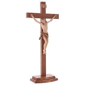 Crucifix à poser bois patiné multinuances mod. Corpus s4