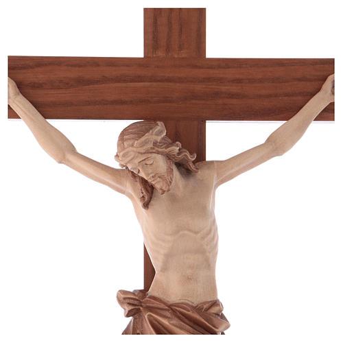 Crucifix à poser bois patiné multinuances mod. Corpus 2
