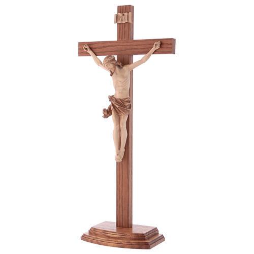 Crucifix à poser bois patiné multinuances mod. Corpus 3