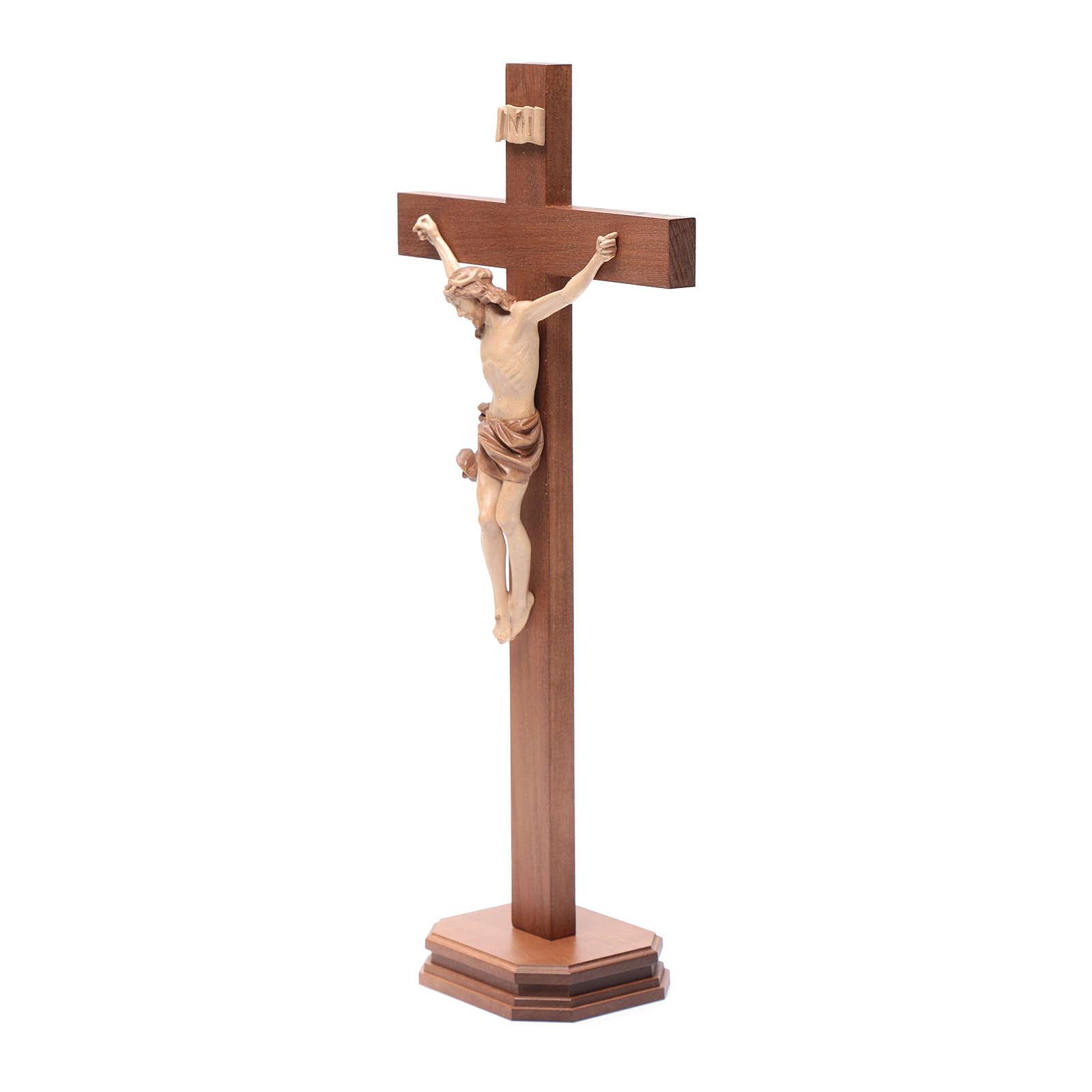 Croce da tavolo mod. Corpus legno Valgardena multipatinata 4