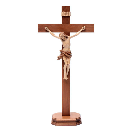 Croce da tavolo mod. Corpus legno Valgardena multipatinata 1