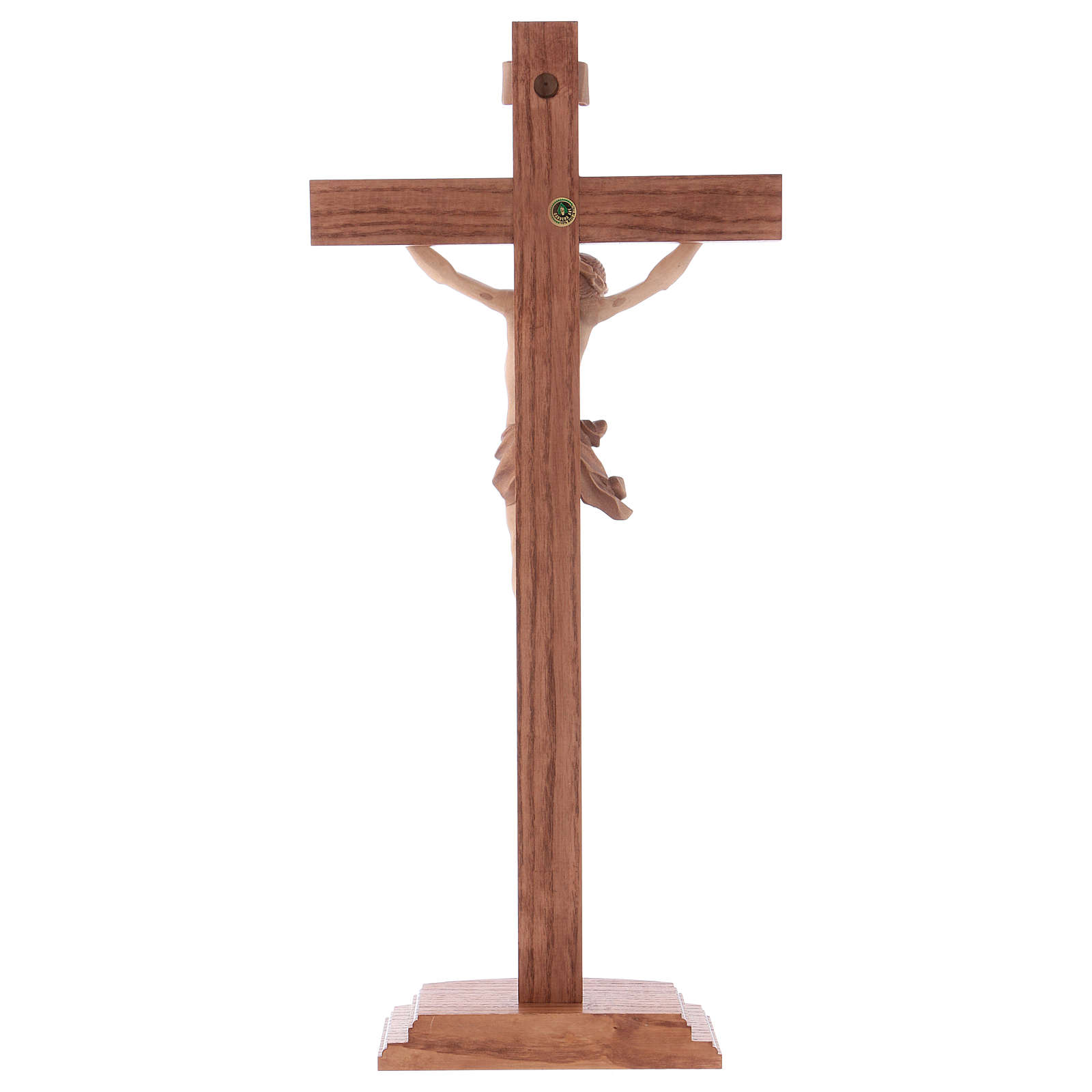 Multi-patinated table crucifix, Corpus model in multi-patinated 4