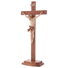 Multi-patinated table crucifix, Corpus model in multi-patinated s3