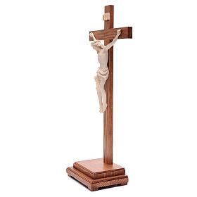 Croce da tavolo mod. Corpus legno Valgardena naturale cerato s2