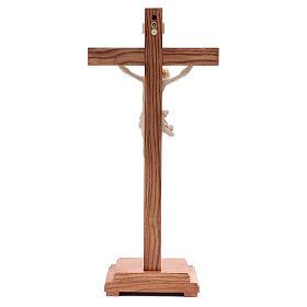 Croce da tavolo mod. Corpus legno Valgardena naturale cerato s4