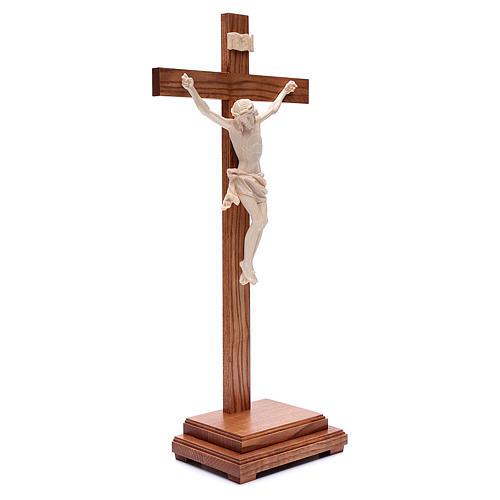 Croce da tavolo mod. Corpus legno Valgardena naturale cerato 3