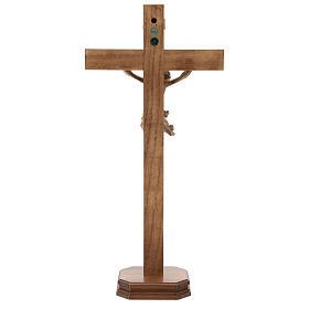 Tisch Kreuz Mod. Corpus Grödnertal Holz patiniert s5