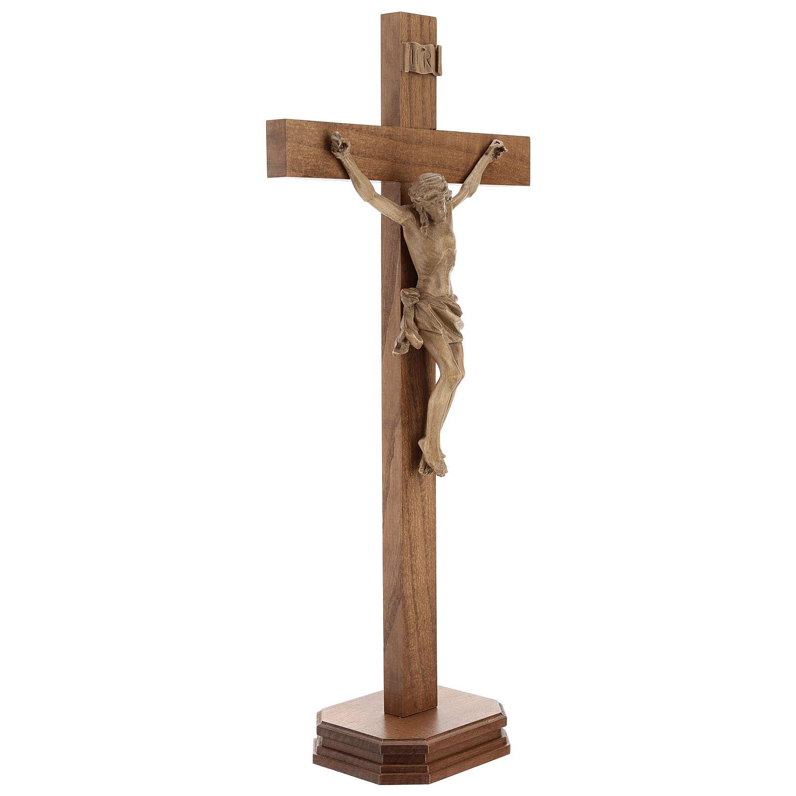 Cruz de mesa mod. Corpus madera Valgardena patinado 4
