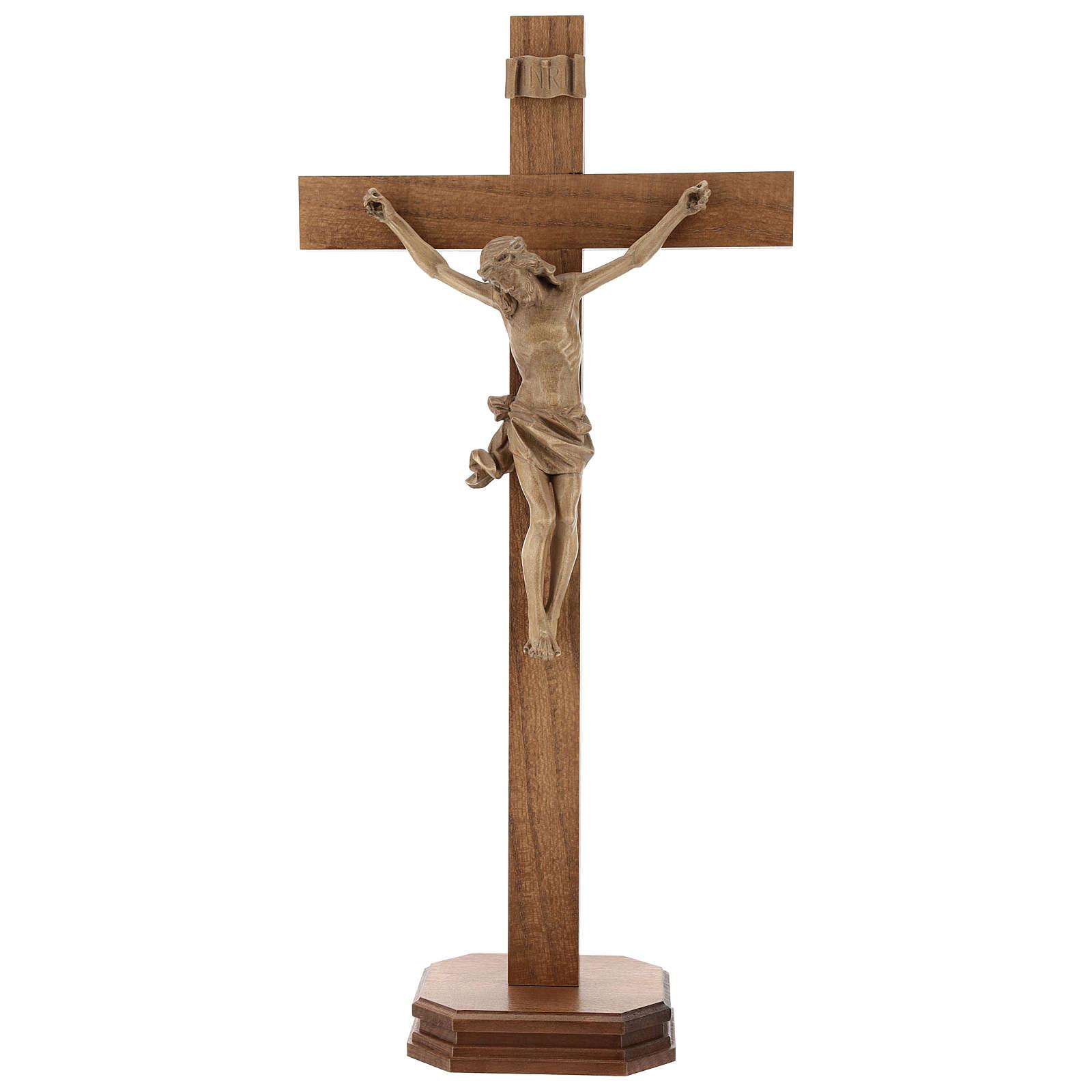 Crucifix à poser bois patiné mod. Corpus 4